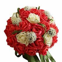 PANDA SUPERSTORE Wedding Bridal Bouquet Wedding Artificial Bouquet Artificial Ro