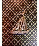 Beautiful vintage yacht boat nautical brooch - $16.00