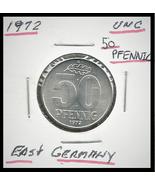 1972, East Germany(GDR): 50 Pfennig coin - $1.69