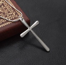 925 GENUINE Sterling Silver Cross Pendant Necklace - $14.85