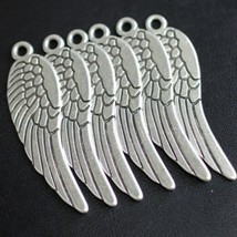 Charms Wing Antique Silver Pewter Pendant DIY Jewelry Craft Accessory 5 Pcs - $15.83