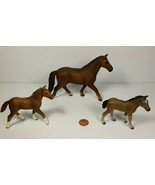 Schleich Horses Hanoverian Mare & 2 Foals, a Colt & Filly, Retired, 2012... - $24.70