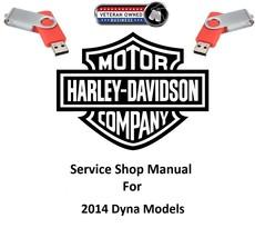 2014 Harley Davidson Dyna Models USB Service Shop Manual #99481-14 - $18.95