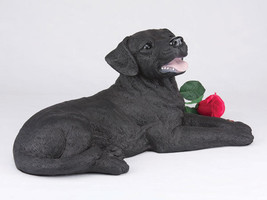 Extra Large 303 Cubic Inches Black  Labrador Retriever Resin Urn for Ashes - $184.99