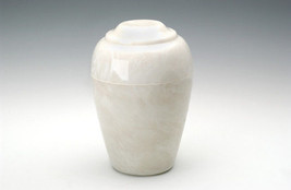 Large Grecian Onyx Pearl Adult Funeral Cremation Urn, 190 Cubic Inches - $194.99