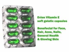 400mg evion Vitamin E 100 Capsule Face,Hair,Pimple Glowing Skin care  !!... - $11.63