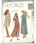 McCall's Sewing Pattern 7545 Misses Womens Dress Size 10 New Uncut - $9.99