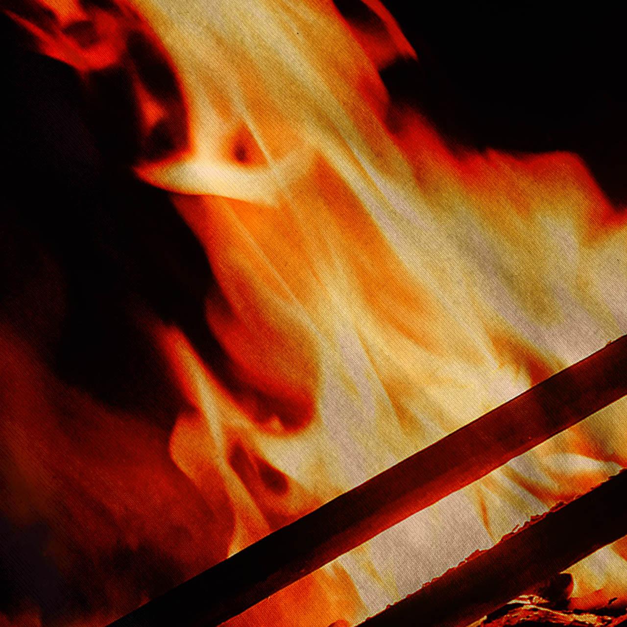 Burning Fireplace Tee Cozy House Women Tank Top