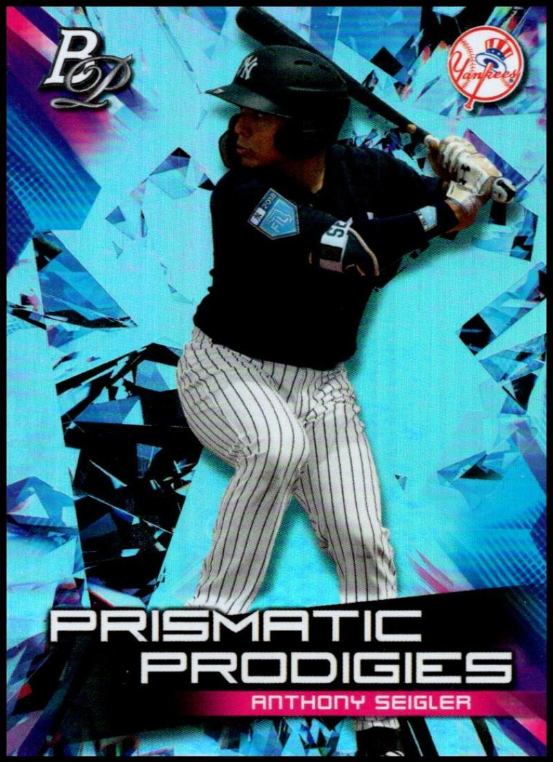 Primary image for 2019 Bowman Platinum Prismatic Prodigies #PPP-31 Anthony Seigler NM-MT New York