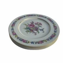 Vintage Castleton Manor Fine China Floral Dresden School 4 Dinner Plates... - $74.76