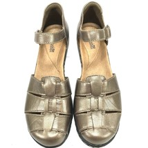Clarks Bendables Womens 8W Bronze Leather Cutouts Comfort Loafers Flats ... - $47.03