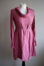 Anthropologie Saturday Sunday S Pink Slub Knit Long Sleeve Cowl Neck Dress - $30.40