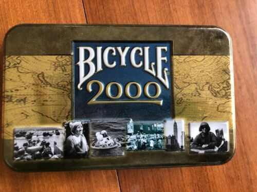 Primary image for Bicycle 2000 Playing Cards in Collector Tin 2 Decks of Cards NEW