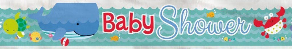 "Under the Sea Pals Foil Banner 12 Ft Party Supply ""Baby Shower"""