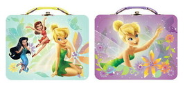 Walt Disney's Tinker Bell Large Carry All Tin Tote Lunchboxes Set of 2 NEW - $14.50