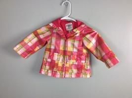 Toddler Girls OshKosh Bgosh Rain Coat Size 18 Months Pink Plaid - $12.19