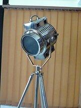 Designer Marine Floor Lamp Adjustable Steel Tripod Stand Search Light - $167.31