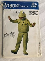 Vogue Pattern 8476 Jim Henson's Kermit The Frog Muppet Costume Halloween... - $9.74