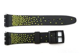 12mm Damen Schwarz/Gelb PVC Ersatz Uhr Band Armband Passt Swatch Uhren - $8.91
