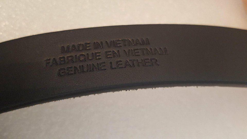 LAUREN Ralph Lauren Haircalf Belt w/ Side Bar Roller Buckle Black X-LARGE