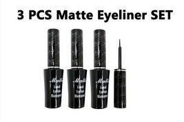 """Italia Deluxe Black Matte Waterproof Liquid Eyeliner """"3 PCS Set"""" - $7.38"""