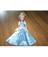 "Large 15"" Playmates 2005 Disney Princess Cinderella Doll w Blue Dress EUC - $24.00"