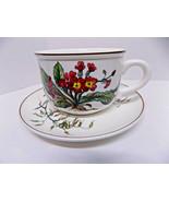 VILLEROY & BOCH Oversized Breakfast Cup / Saucer BOTANICA Primrose Mint ... - $76.00