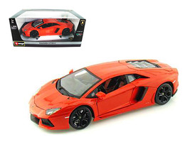 2012 Lamborghini Aventador LP700-4 Orange 1/18 Diecast Model Car by Bburago - $65.79