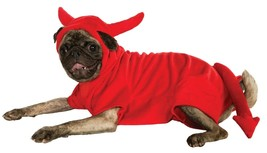 Devil Dawg pet costume for dogs satan tail horns red large hooded jumpsuit - $7.91