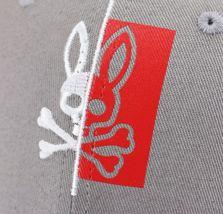 Psycho Bunny Men's Cotton Embroidered Logo Dovedale Baseball Cap Strapback Hat image 5