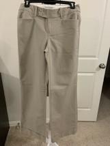 Banana Republic Bootcut/Wide Cuff Leg Tan Pants Jackson Fit Sz 4R #B10 - $7.50