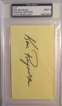 Ken Reynolds Autographed 3X5 Cut PSA/DNA MINT 9 Certified - $19.34