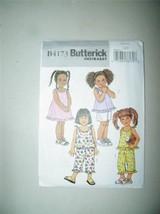 Butterick B4173 Pattern Girls Jumper Dress Sundress Top Capris Shorts 12681 - $6.49