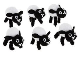 HL Easter Decor - Chenille Felt Pom Pom Easter Lambs 6pc - $10.95