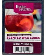 Iced Raspberry Sangria Better Homes and Gardens Scented Wax Cubes Tarts Melts - $3.50