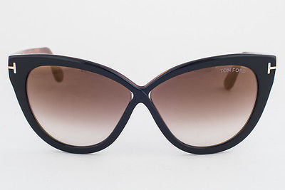 Tom Ford 511 05G Arabella Black Havana / Brown Gradient Sunglasses TF511-05G