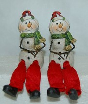 Delton Products 5007 4 Snowman Green Scarf Shelf Sitter 4 Inch image 1