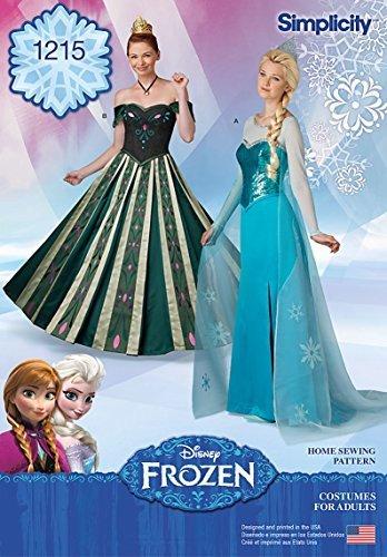 Simplicity Creative Patterns 1215 Misses' Frozen Costumes, HH (6-8-10-12)
