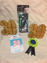 30 th birthday party supplies, Lot Of 5 Pcs - $11.80