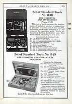 Brown & Sharpe Advertisement Standard Tools Set No. 848 and 849 Ad 1941 - $14.99