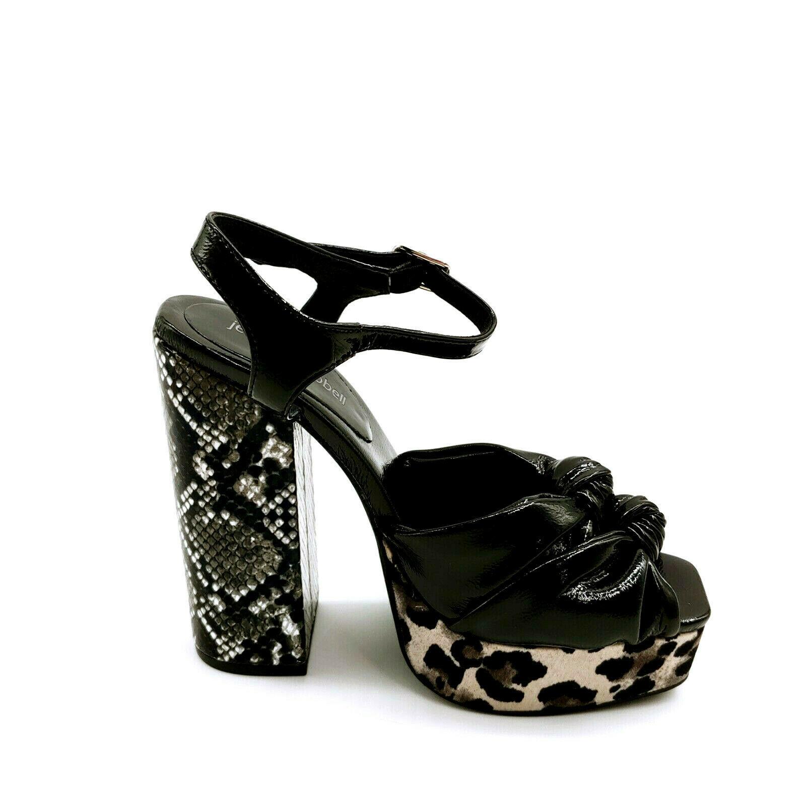 Jeffrey Campbell Womans High Heel Platform Sandal Black Multi Color Sz 7 M - $79.19