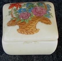 Cute Little Transferware Porcelain Trinket Box, VG COND - $1.97