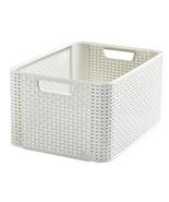 Curver Style 205851 Storage Box Rattan-Look Second Generation Polypropyl... - $34.00
