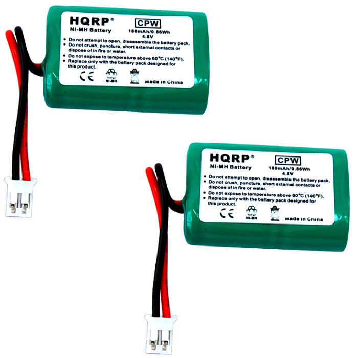 2-Pack HQRP Battery for SportDOG SDT00-11907 MH120AAAL4GC DC-17 Collar Receiver - $27.33