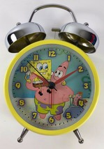 NEW 2006 SpongeBob SquarePants and Friends Twin Bell Alarm Desk Clock - $29.69