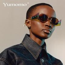 Luxury Rimless Fashion Steampunk Men Sunglasses Fashion Oval Designer Women Sun  image 2