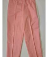 VTG Izod Lactose peach cotton/poly pant womens Size M 30W 30L elastic waist - $19.99