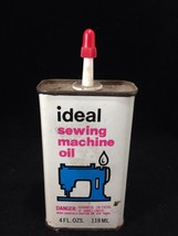 Antique Ideal Brand Sewing Machine Oil Unopened Sealed Can - Singer & Others - $32.94 CAD