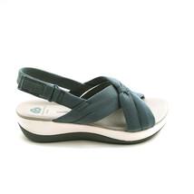 Cloudsteppers by Clark Womens Arla Belle Jersey Sport Sandals Blue Grey 8W - $42.56