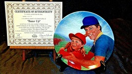 """1984 """"Batter UP,""""  by Betsy Bradley with Box ( Knowles ) AA20- CP2166 Vintage"""